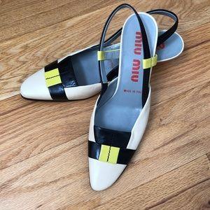 MIU MIU - vintage leather kitten heels